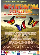 MATCH INTERNATIONAL FRA/ALL/BEL 14/09 à BAR-le-DUC (LOR) : SELECTION DEFINITIVE
